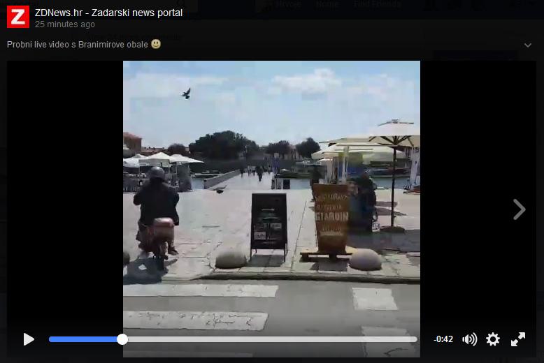 Photo of LIVE VIDEO – ZDNews.hr je prvi zadarski portal koji je emitirao video uživo preko Facebooka!