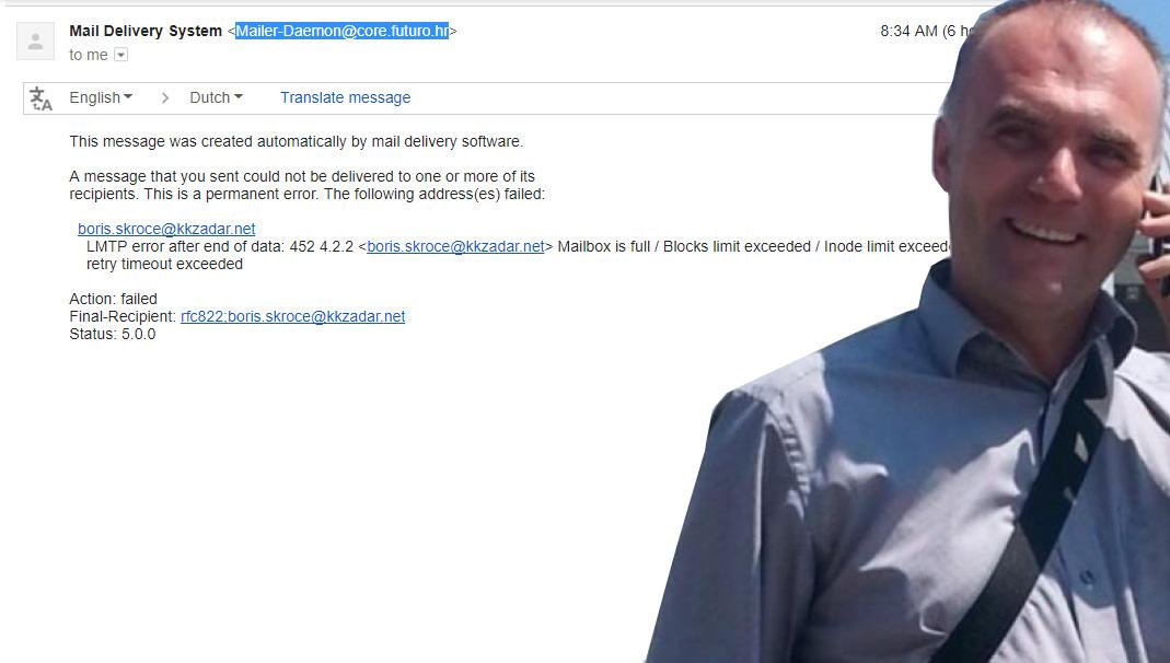 Photo of TEŠKO RUGANJE I SRAMOTA: Borisu Skroći danima ne radi službena klupska e-mail adresa