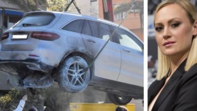 Photo of Zapaljeni Mercedes vrijedan 100 tisuća eura u vlasništvu je Zdenke Zrilić