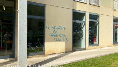 Photo of U Velebitskoj ulici osvanuo grafit 'Oj hrvatska mati, Srbe ćemo klati'