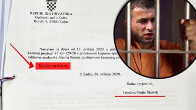 Photo of IMAMO DOKAZ – Zadarska sutkinja Teodora Projić Škovrlj požurivala je postupak obnove Suraćevog predmeta; Unatoč svemu, Surać će morati u zatvor