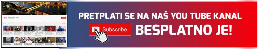 Besplatno se pretplati na YouTube kanal ZADAR News Video