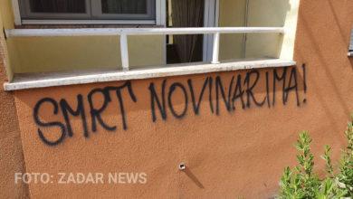 """Photo of VIDEO – Usred Zadra osvanuo grafit """"smrt novinarima"""""""